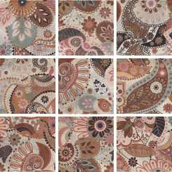 Verona decor print beige mix 9  Декор